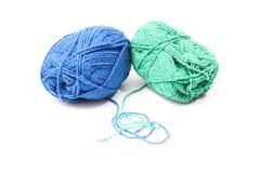 Image des boules de laine colorées Image libre de droits
