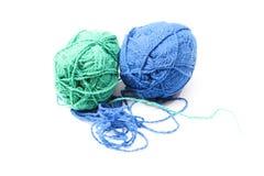 Image des boules de laine colorées Photo stock