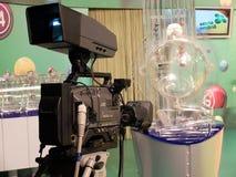 Image des boules de loterie pendant l'extraction Photographie stock libre de droits