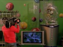 Image des boules de loterie pendant l'extraction Images libres de droits