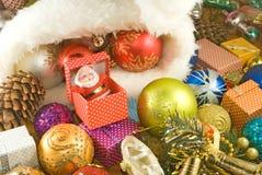 Image des décorations de Noël en gros plan image libre de droits
