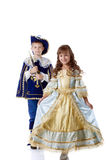 Image des enfants mignons posant dans des costumes de carnaval image libre de droits