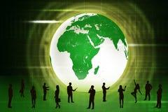 Image des gens d'affaires de silhouettes Images stock