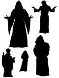 Image des moines et des apôtres sur le blanc Photo stock