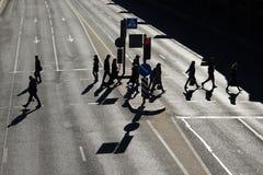 Image des personnes sur la rue image stock