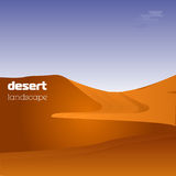 Image of the desert. Bright picture, vector image Stock Photography