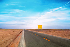 An image of desert traffic desert Royalty Free Stock Photos