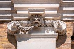 detail at the Basilica della Santa Casa in Italy Marche stock photography