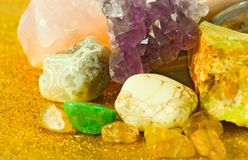 Image of different colorful stones close-up. Image of different colorful stones closeup Stock Image