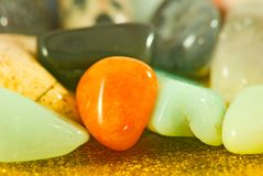 Image of different colorful stones close-up. Image of different colorful stones closeup Royalty Free Stock Images