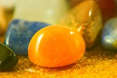 Image of different colorful stones close-up. Image of different colorful stones closeup Stock Photo