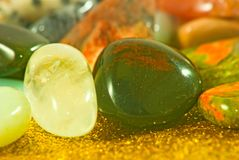 Image of different colorful stones close-up Stock Images