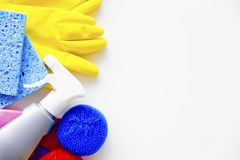 Equipment for cleaning. An image of different equipment for cleaning home Stock Photos
