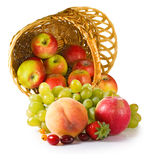 Image of different fruits in a basket close up Royalty Free Stock Image