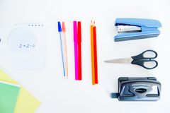 Different school objects. An image of different school objects on a table Stock Images