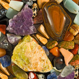 Image of different stones closeup Stock Photography