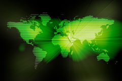 Image of a digital  world map Stock Image