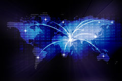 Image of a digital  world map Stock Photo