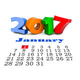 Image digits of the new year 3D illustration Royalty Free Stock Images