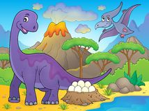 Image with dinosaur thematics 2 Stock Images
