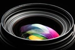 Image discrète de DSLR de llense moderne professionnel d'appareil-photo Images libres de droits