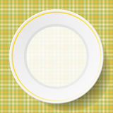 Image dishes on a napkin Royalty Free Stock Images