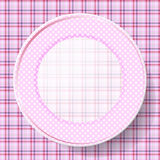 Image dishes with a pattern on a napkin Royalty Free Stock Photos