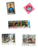 Image éditoriale : collection de timbres Photo stock