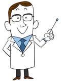 Doctor to explain vector illustration