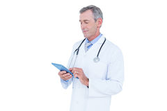 Image of doctor standing with tablet pc Stock Photography