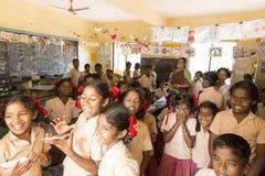 Image documentaire éditoriale Écoliers Images libres de droits
