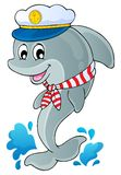 Image with dolphin theme 1. Eps10 vector illustration Royalty Free Stock Photos
