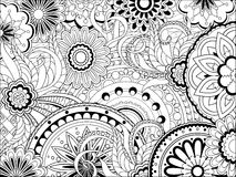 Image with doodle mandalas and tangle elements Royalty Free Stock Image