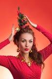 Image drôle de vacances de nouvelle année et de Noël avec le modèle Photos libres de droits