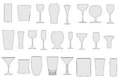 Image of drink glasses set Stock Images