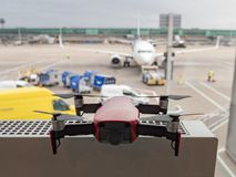 Image of Drone at Airport stock photography