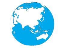 Image du globe Asie, Océanie illustration de vecteur
