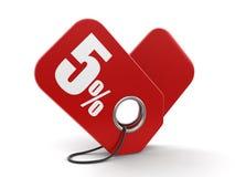Image du label 5% Photos libres de droits