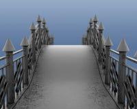 Image du pont piétonnier de fer illustration 3D Images stock