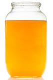 Image du pot de miel d'isolement sur le fond blanc photographie stock