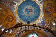 Image du sauveur sur le dôme du temple Photographie stock libre de droits