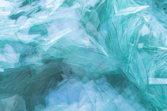 Image du verre de rebut pour réutiliser dans l'industrie, recy en verre cassé Photos stock