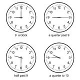 Image of Early learning learn to tell time wall clock vector Stock Image