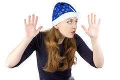 Image of eavesdropper young woman Stock Photography