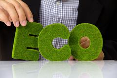 Eco alphabet Stock Photos