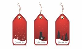 Image of editable vector illustration ,set of Christmas price tags/labels with place for text Royalty Free Stock Photography