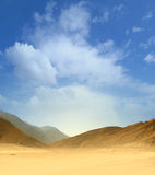 Image of an Egyptian desert on a sky background Royalty Free Stock Image