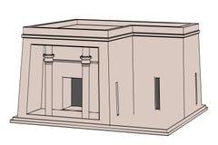 Image of egyptian house Royalty Free Stock Photo