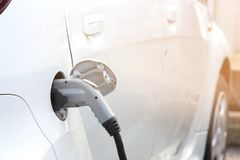 Image of electrical car charger in the car. Vancouver royalty free stock images