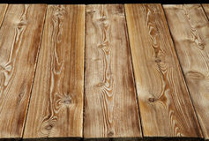 Image of empty bumpy wooden table top Royalty Free Stock Images